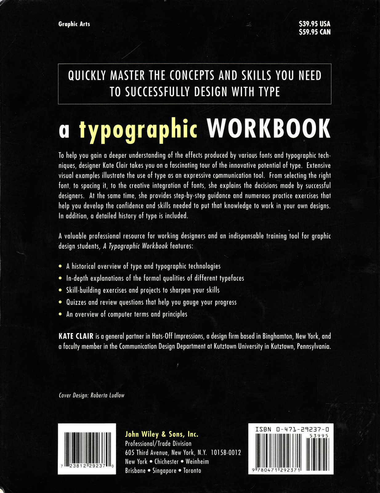 a typographic workbook by clair kate
